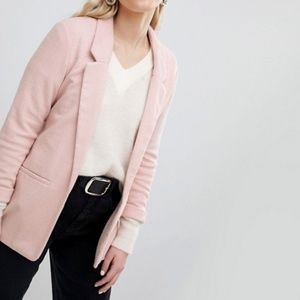 ASOS New Look Ponte Blazer in Pink
